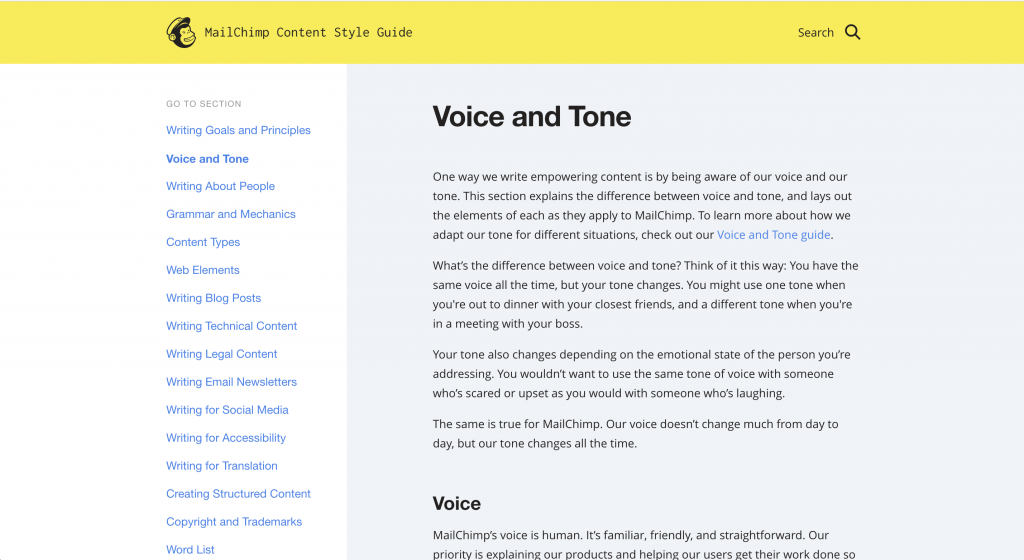 Blog Style Guide MailChimp