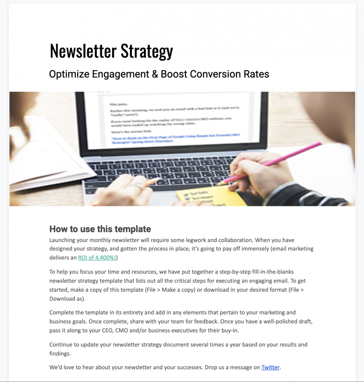 productboard <br> Newsletter Strategy