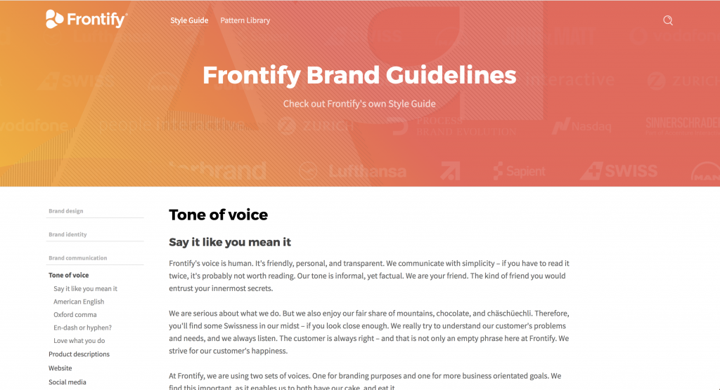 Blog Style Guide Frontify