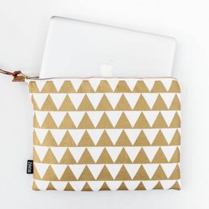 Etsy Laptop Sleeve Gold Triangle